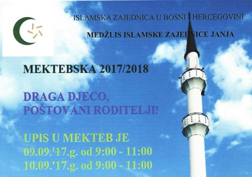 Počinje mektebska 2017/2018. godina